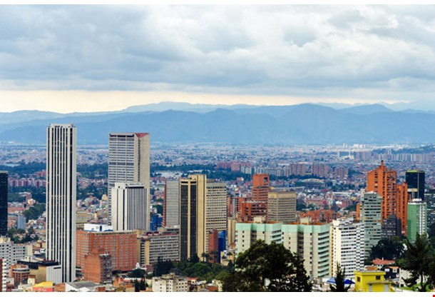 View of the Skyline of Bogota