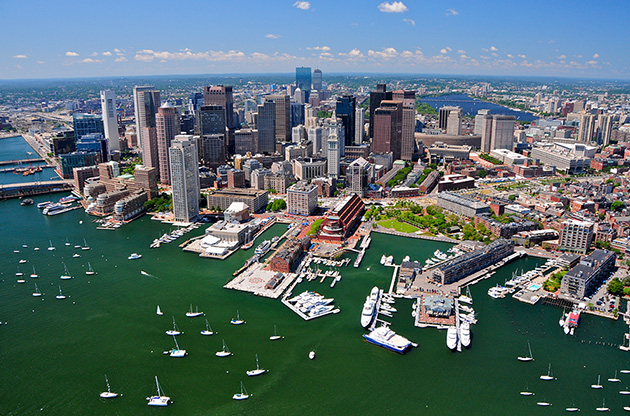 aerial-view-of-boston-Aerial View Of Boston