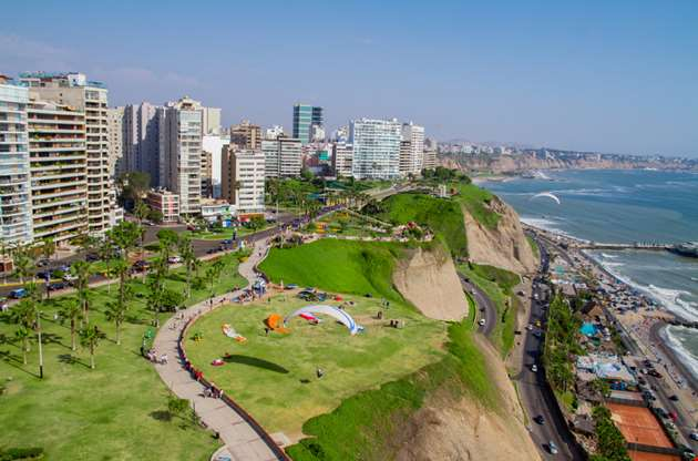aerial-shot-of-lima-city-peru-Aerial Shot Of Lima City Peru
