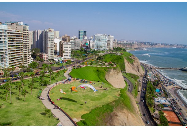 Aerial Shot Of Lima City Peru
