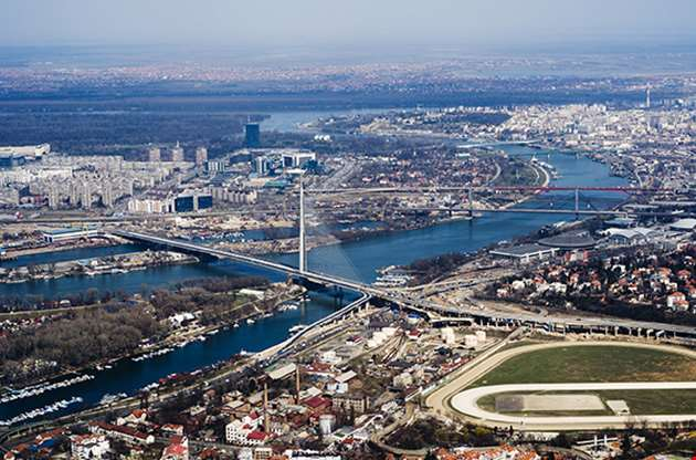 aerial-view-on-belgrade-serbia-Aerial View On Belgrade Serbia