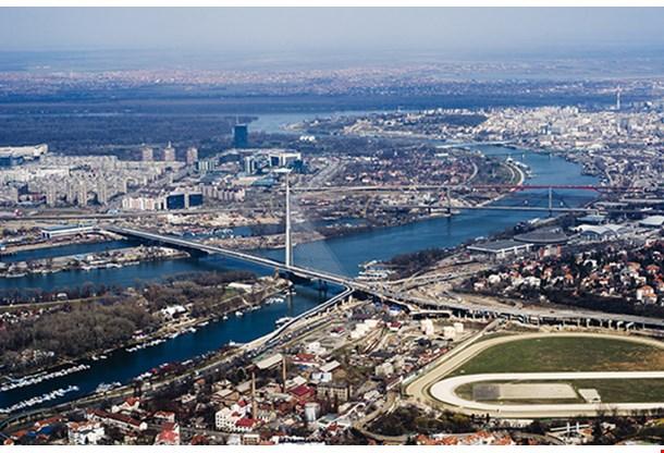 Aerial View On Belgrade Serbia