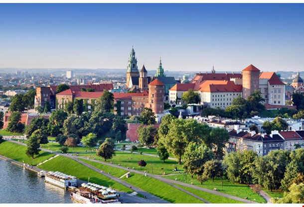 Historic Royal Wawel Castle In Cracow