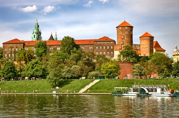 Wawel Castle On Sunny Day In Cracow