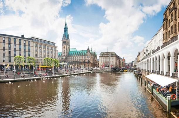 Beautiful View of the City Center Hamburg