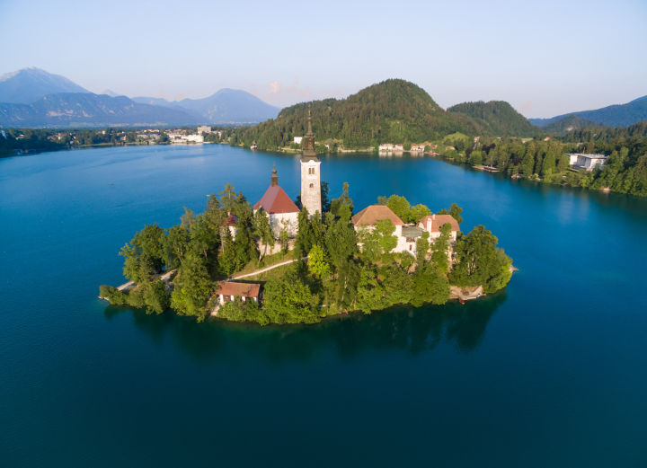 Lake Bled Aerial View-Lake Bled Aerial View