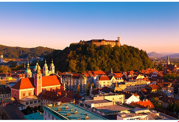 Panorama Of The Slovenian Capital Ljubljana