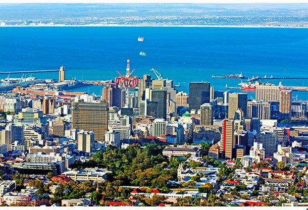 View Over Cape Town South Africa