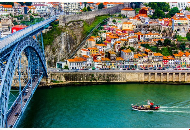 Ancient City Porto Metallic Dom Luis Bridge