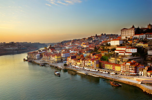 hill-with-old-town-of-porto-and-river-douro-Hill With Old Town Of Porto And River Douro