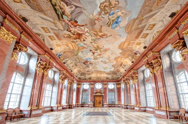 Interior of a Baroque Palace in Vienna