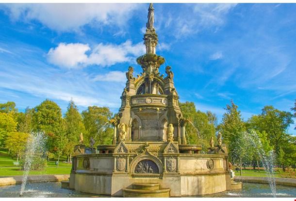 The Stewart Memorial Fountain In Kelvingrove Park In Glasgow