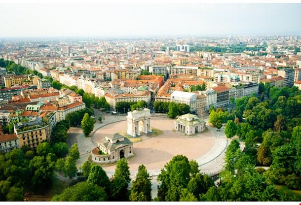 Beautiful Panoramic View Milan
