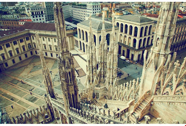 Milan Cathedral on Royal Palace of Milan