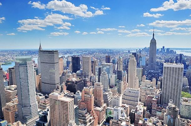 New York City Manhattan Midtown Aerial Panorama