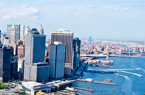 New York City Sky View With Sea