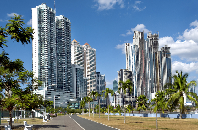 modern-city-with-high-skyscrapers-panama-city-Modern City With High Skyscrapers Panama City