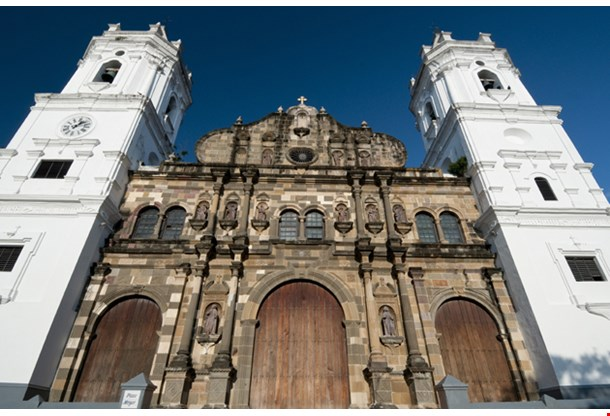 Panama Cathedral Sal Felipe Old Quarter