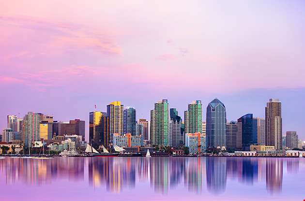 lovely-san-diego-skyline-at-sunset-Lovely San Diego Skyline At Sunset