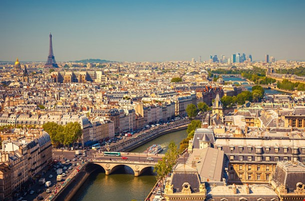 View on Paris from Notre Dame Cathedral