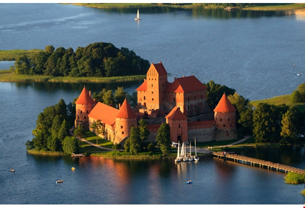 Trakai Castle Traku Pilis In Lithuania Near Vilnius