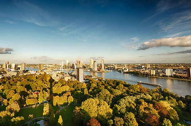 A View Of The City Of Rotterdam