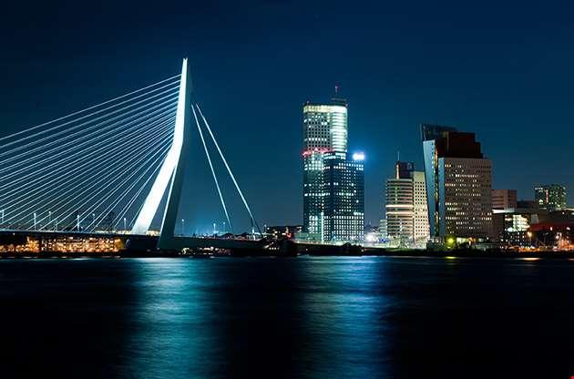 the-illuminated-skyline-of-rotterdam-The Illuminated Skyline Of Rotterdam