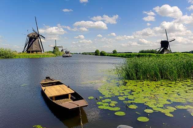 windmill-landscape-at-kinderdijk-near-rotterdam-Windmill Landscape At Kinderdijk Near Rotterdam