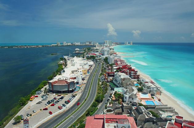 cancun-aerial-view-Cancun Aerial View