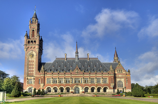 the-peace-palace-international-court-of-justice-in-the-hague-The Peace Palace International Court Of Justice In The Hague
