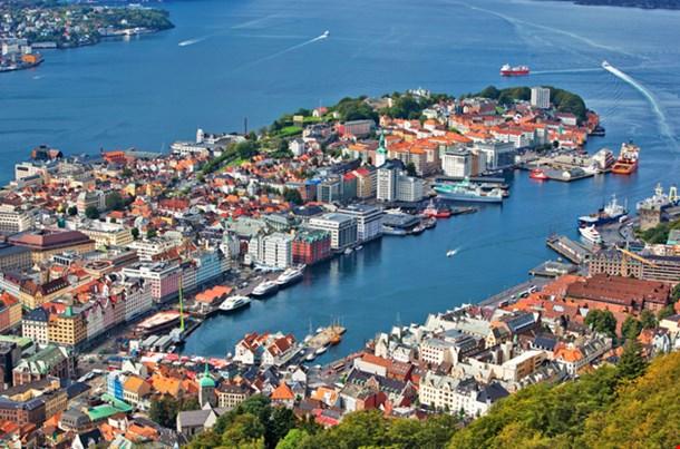 Bergan City In Norway