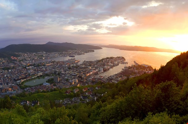 Bergen In The Sunset