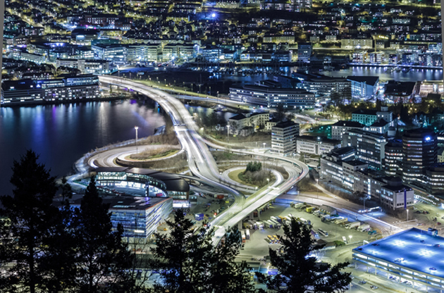 car-isolated-at-night-bergen-norway-Car Isolated At Night Bergen, Norway