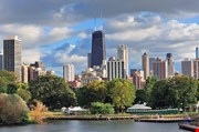 chicago-skyline-with-skyscrapers-viewed-from-lincoln-park-Chicago Skyline With Skyscrapers Viewed From Lincoln Park