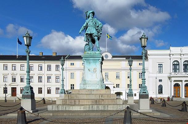 Monument To Swedish King Gustav Ii Adolf In Gothenburg