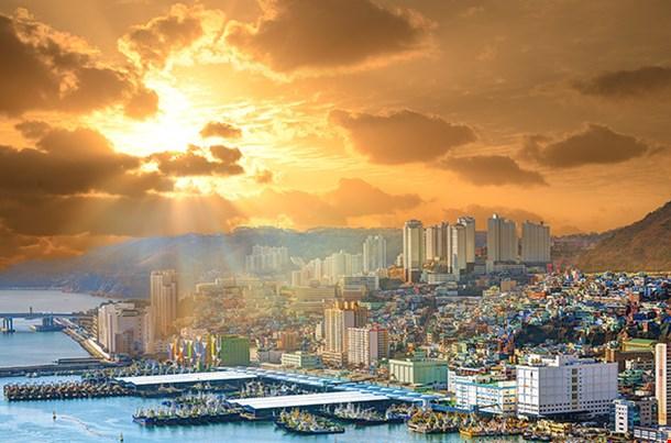 Cityscape Of Busan Sunset