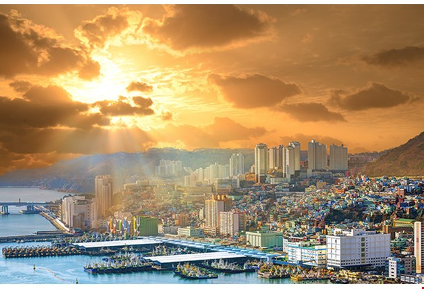 Cityscape Of Busan Sunset