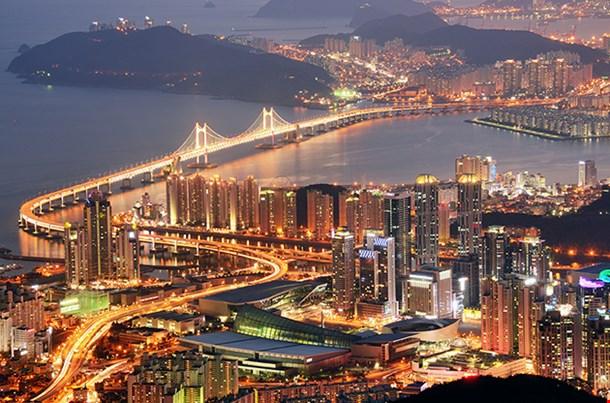 Skyline Of Busan South Korea
