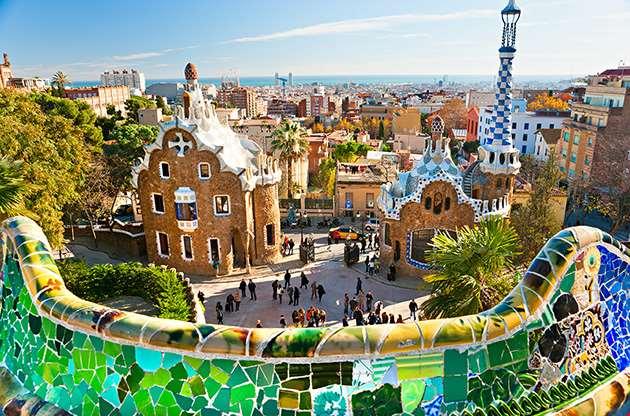 park-guell-in-barcelona-Park Guell In Barcelona