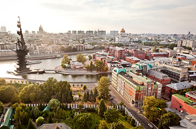aerial-moscow-city-panorama-Aerial Moscow City Panorama, Russia