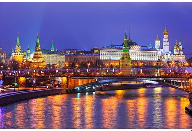 Stunning Night View of Kremlin in the Winter