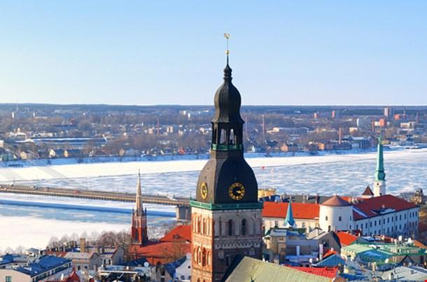 Old City Part In Riga Latvia