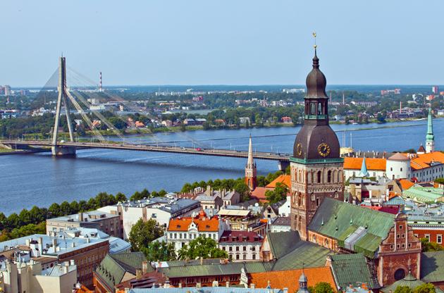 the-panorama-view-of-riga-latvia-The Panorama View Of Riga Latvia