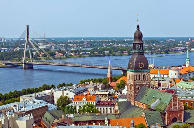 the-panorama-view-of-riga-latvia-The Panorama View Of Riga Latvia