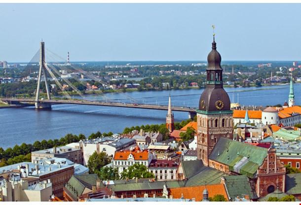 The Panorama View Of Riga Latvia