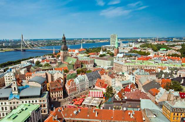 the-panoramic-view-of-city-riga-latvia-The Panoramic View Of City Riga Latvia