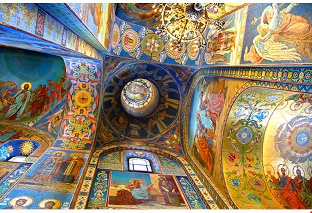 Interior Church Of The Savior Saint Petersburg