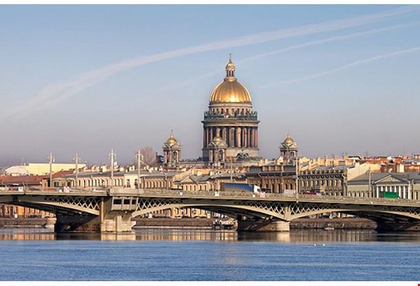 Neva River Isaakievsky Cathedral Saint Petersburg
