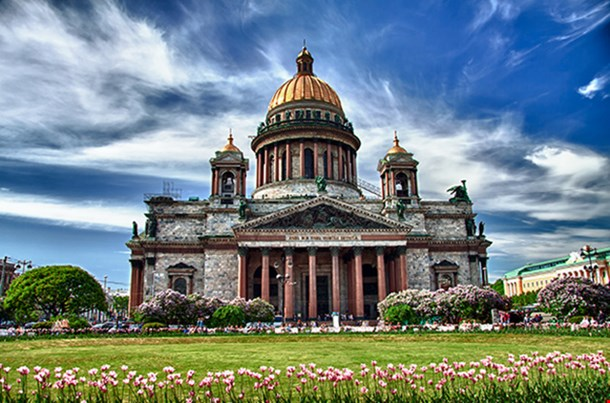 Saint Isaac Cathedral In Saint Petersburg Russia
