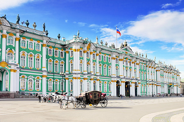 winter-palace-square-in-saint-petersburg-Winter Palace Square In Saint Petersburg